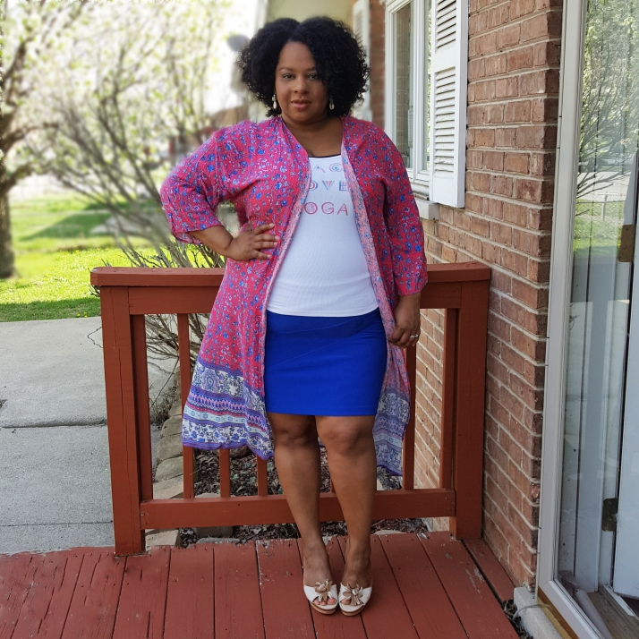 floral duster blue skirt edit
