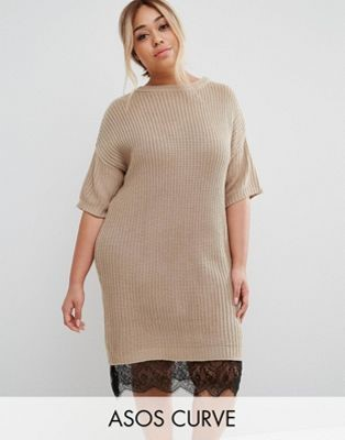 ASOS Tan Sweater Dress