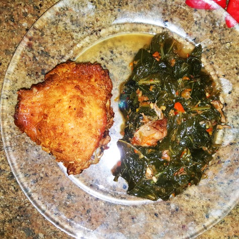 Chicken Greens Finished Plate