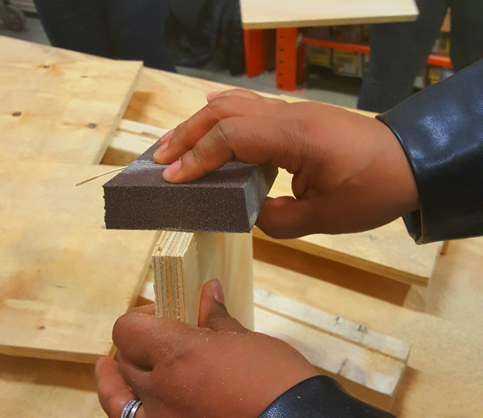 Sanding Plywood