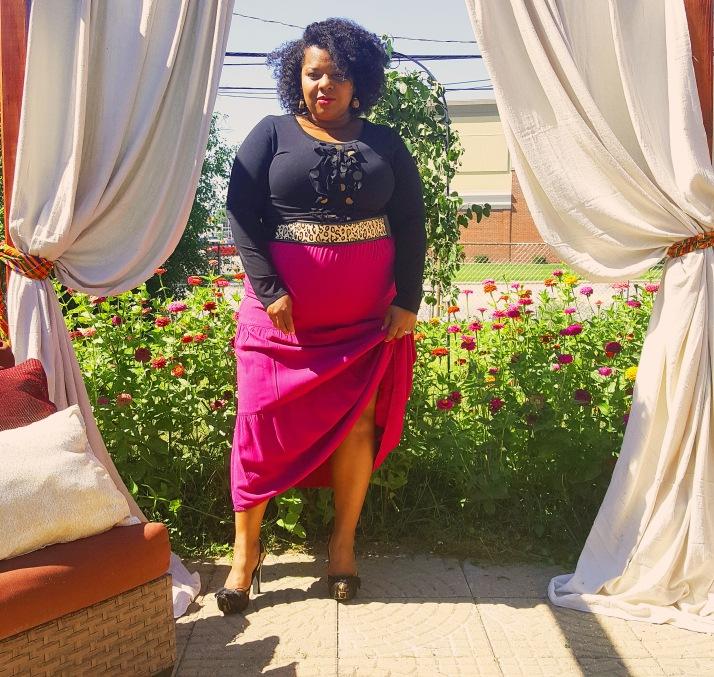 Black Embellished Top Magenta Long Skirt_edited-1