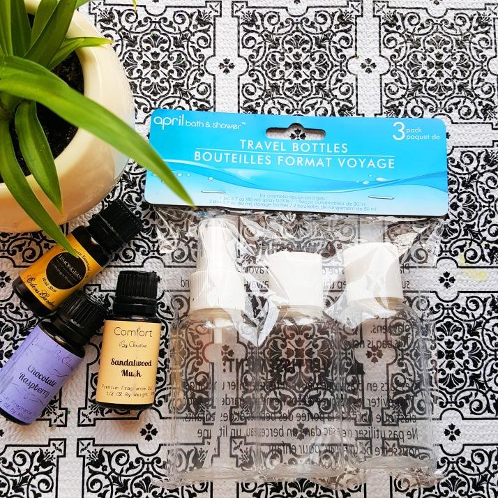Hair & Body Oils bottles