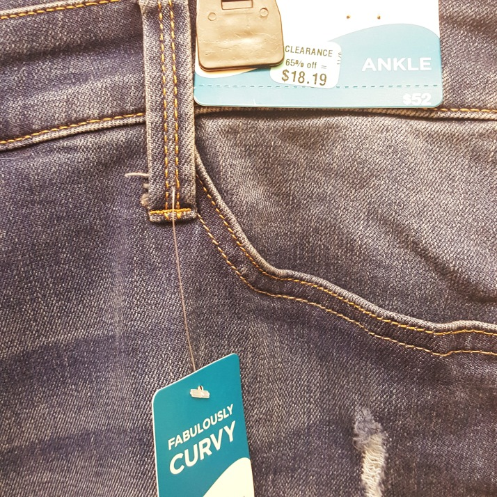 JCP Blue Distressed Jeans price