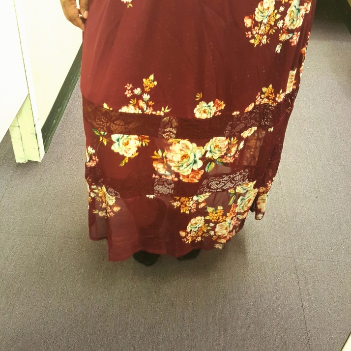 JCP Floral Dress close up