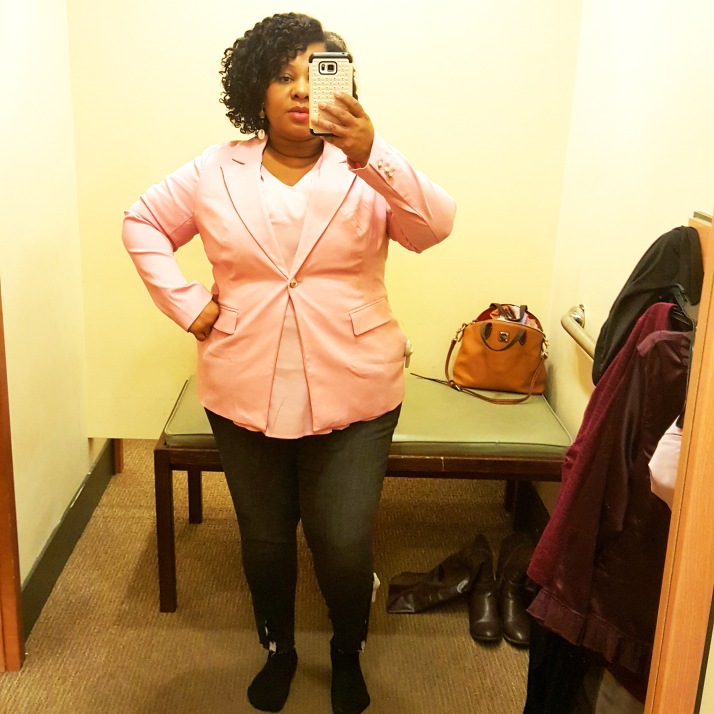 LB Dressing Room Light Pink Blazer