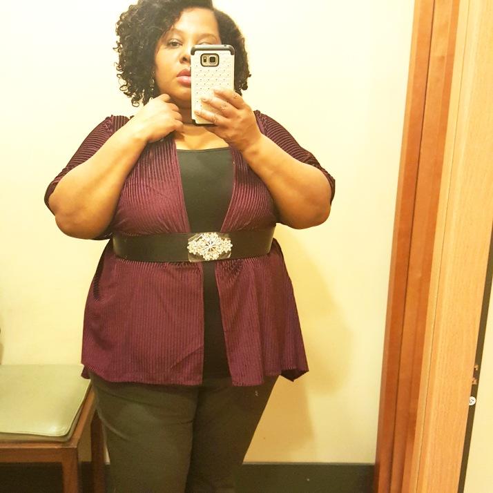 LB Dressing Room Purple Poncho