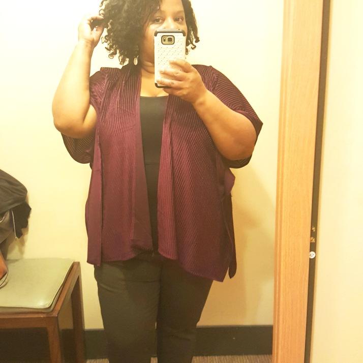 LB Dressing Room Purple Poncho2