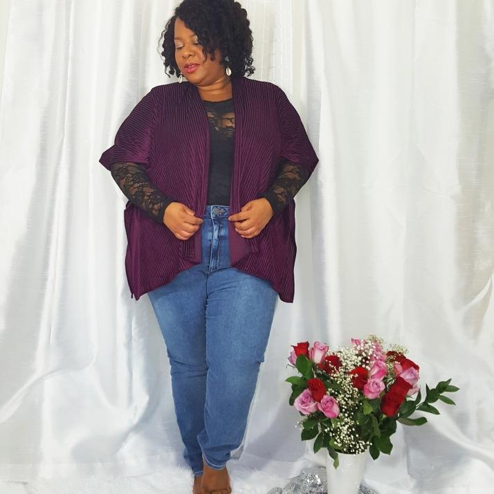 LB Purple Cardi Jeans