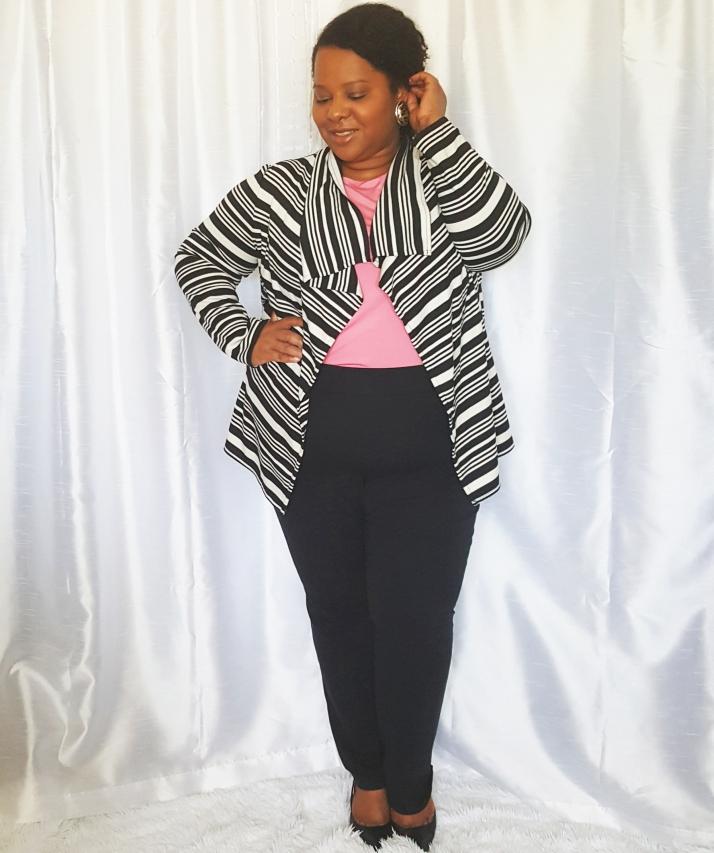 Interview Wear-Black White Cardi2