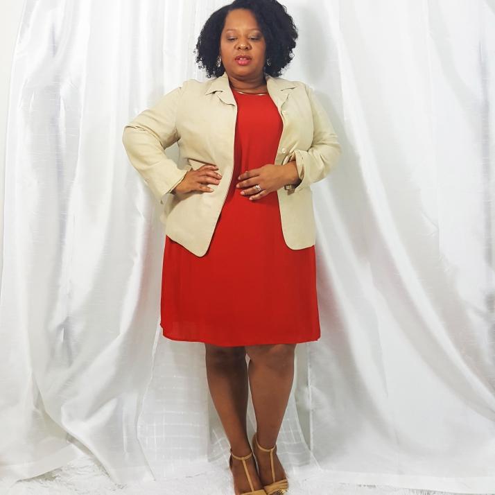 Interview Wear-Orange Dress