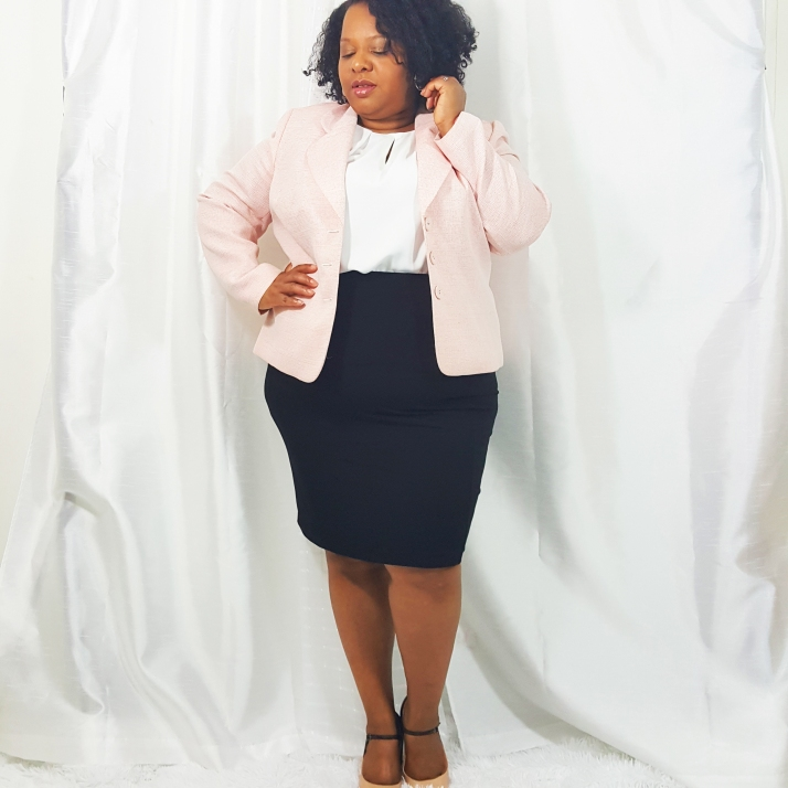 Interview Wear-Pink Blazer2